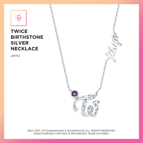 TWICE (트와이스) - TWICE JEWELRY COLLECTION LIMITED EDITION [BIRTHSTONE SILVER NECKLACE - JIHYO]