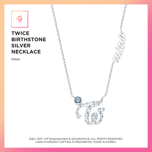 TWICE (트와이스) - TWICE JEWELRY COLLECTION LIMITED EDITION [BIRTHSTONE SILVER NECKLACE - MINA]