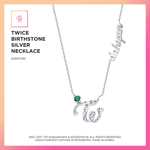 TWICE (트와이스) - TWICE JEWELRY COLLECTION LIMITED EDITION [BIRTHSTONE SILVER NECKLACE - DAHYUN]