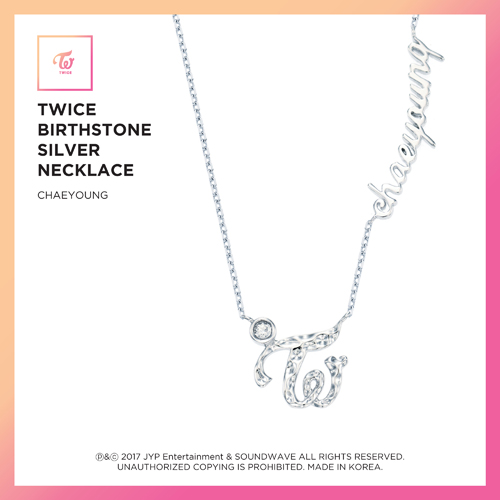 TWICE (트와이스) - TWICE JEWELRY COLLECTION LIMITED EDITION [BIRTHSTONE SILVER NECKLACE - CHAEYOUNG]