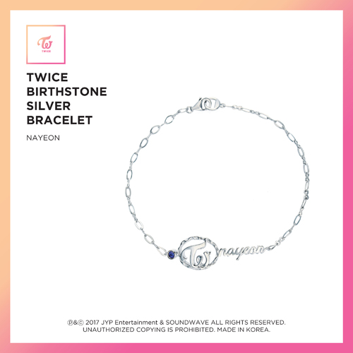 TWICE (트와이스) - TWICE JEWELRY COLLECTION LIMITED EDITION [BIRTHSTONE SILVER BRACELET - NAYEON]