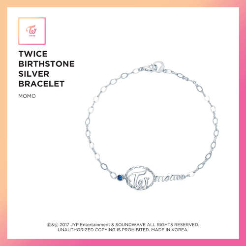 TWICE (트와이스) - TWICE JEWELRY COLLECTION LIMITED EDITION [BIRTHSTONE SILVER BRACELET - MOMO]