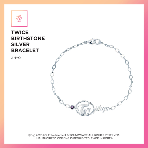 TWICE (트와이스) - TWICE JEWELRY COLLECTION LIMITED EDITION [BIRTHSTONE SILVER BRACELET - JIHYO]