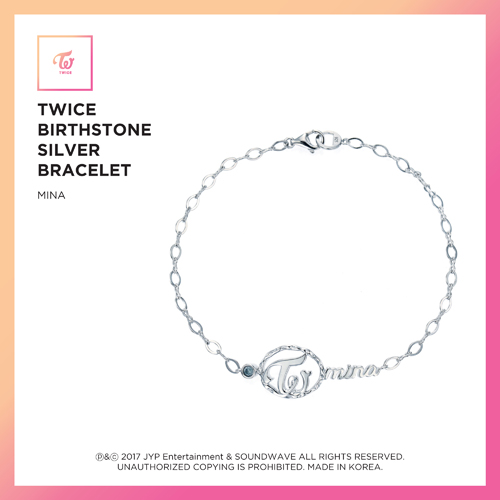 TWICE (트와이스) - TWICE JEWELRY COLLECTION LIMITED EDITION [BIRTHSTONE SILVER BRACELET - MINA]