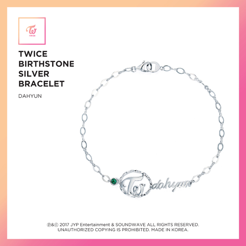 TWICE (트와이스) - TWICE JEWELRY COLLECTION LIMITED EDITION [BIRTHSTONE SILVER BRACELET - DAHYUN]