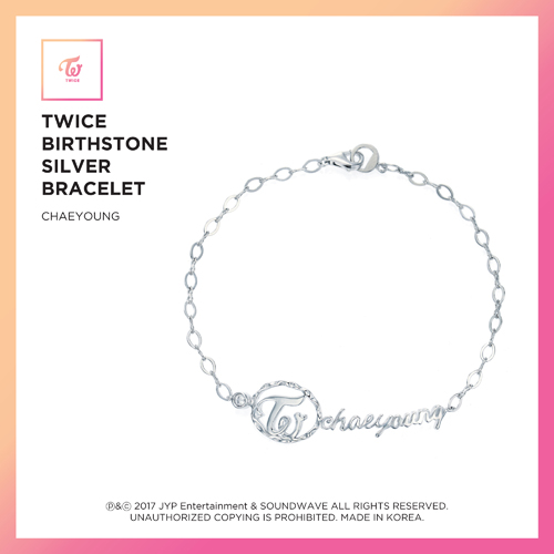 TWICE (트와이스) - TWICE JEWELRY COLLECTION LIMITED EDITION [BIRTHSTONE SILVER BRACELET - CHAEYOUNG]