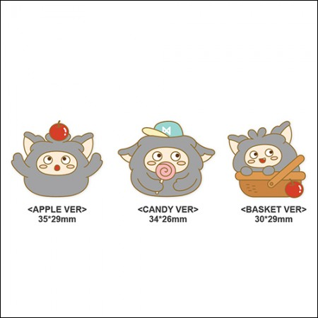 MON.G(몬지) - OFFICIAL GOODS / PIN BADGE [APPLE VER/CANDY VER/BASKET VER] (핀 뱃지)