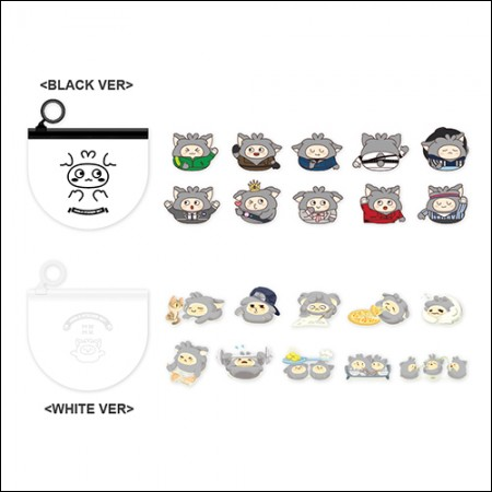 MON.G(몬지) - OFFICIAL GOODS / STICKER SET [BLACK VER/WHITE VER] (스티커 세트)