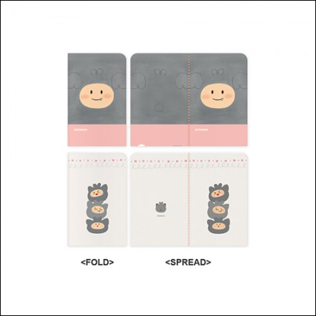 MON.G(몬지) - OFFICIAL GOODS / MINI NOTE SET (미니 노트 세트)
